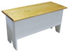 Rustic Knotty Pine Bench | Wood Storage Bench 3' Long | In Solid Cottage White with Stained Top