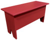 Rustic Knotty Pine Bench | Wood Storage Bench 3' Long | In Solid Red