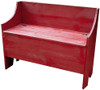 Rustic Storage Bench | Sawdust City LLC Boot Bench | In Old Red