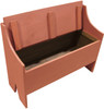 Rustic Storage Bench | Sawdust City LLC Boot Bench | In Solid Paprika