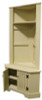 Home Decor and Storage | Corner Bench with Storage | In Old Cream with Beadboard doors and coordinating #54 Corner Locker (sold separately)