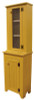 Shown in Old Mustard with a beadboard door and #81 Jelly Cabinet Top shown with screen door (each piece sold separately)