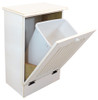 Small Wood Tilt-Out Trash Bin | Pine Furniture Made in the USA | Sawdust City Trash Bin in Old Cottage White
