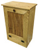 Small Wood Tilt-Out Trash Bin | Pine Furniture Made in the USA | Sawdust City Trash Bin in Butternut Stain
