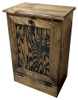 Small Wood Tilt-Out Trash Bin | Pine Furniture Made in the USA | Sawdust City Trash Bin in Walnut Stain