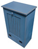 Small Wood Tilt-Out Trash Bin | Pine Furniture Made in the USA | Sawdust City Trash Bin in Old Williamsburg Blue