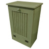 Small Wood Tilt-Out Trash Bin | Pine Furniture Made in the USA | Sawdust City Trash Bin in Old Sage
