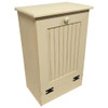 Small Wood Tilt-Out Trash Bin | Pine Furniture Made in the USA | Sawdust City Trash Bin in Old Cream