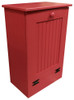 Small Wood Tilt-Out Trash Bin | Pine Furniture Made in the USA | Sawdust City Trash Bin in Solid Red