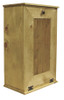Large Wood Tilt-Out Trash Bin with Shelf | Solid Pine Furniture Made in USA | Sawdust City Trash Bin in Butternut Stain