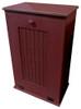 Large Wood Tilt-Out Trash Bin with Shelf | Solid Pine Furniture Made in USA | Sawdust City Trash Bin in Old Burgundy