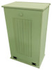 Large Wood Tilt-Out Trash Bin with Shelf | Solid Pine Furniture Made in USA | Sawdust City Trash Bin in Solid Celery