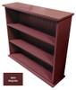 Small Hallway Bookcase | 3-Shelf Hall Bookcase  |  Sawdust City Bookshelf in Solid Burgundy