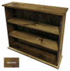 Small Hallway Bookcase | 3-Shelf Hall Bookcase  |  Sawdust City Bookshelf in Walnut Stain