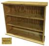 Small Hallway Bookcase | 3-Shelf Hall Bookcase  |  Sawdust City Bookshelf in Butternut Stain