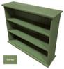 Small Hallway Bookcase | 3-Shelf Hall Bookcase  |  Sawdust City Bookshelf in Solid Sage