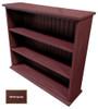 Small Hallway Bookcase | 3-Shelf Hall Bookcase  |  Sawdust City Bookshelf in Old Burgundy