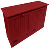 Tilt-Out Trash & Recycling Bins Shown in Solid Red