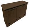 Tilt-Out Trash & Recycling Bins Shown in Solid Brown