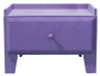 Small Storage Drawer | Retail Bench with Drawer| In Solid Purple