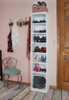 7-Cubby Shoe Rack in Old Cottage White
