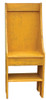Small Primitive Chair - Shown in Old Mustard with optional Shelf below