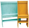 Shown in Old Aqua along with the smaller version in Old Mustard - both with optional shelf below