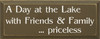 A Day At The Lake… Priceless (small) | Wood Sign With Friends And Lake| Sawdust City Wood Signs