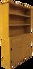 CUSTOM - 4ft. Hutch with Drawers | Custom Pine Hutch | Sawdust City Custom Furniture
