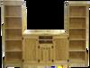 CUSTOM - Pine Entertainment Center | Custom Pine Furniture| Sawdust City Custom Furniture