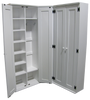 CUSTOM - Corner Lockers with Doors | Custom Pine Lockers | Sawdust City Custom Furniture
