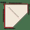 Top-Down diagram showing bottom measurements