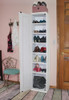 American Pine 7-Cubby Shoe Cabinet by Sawdust City - Shown in Old Cottage White