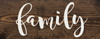"""Farmhouse Style Family Sign - Solid Wood 7""""x18"""" Sign in Dark Walnut"""