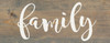 """Weathered Gray Farmhouse Style Family Sign - Solid Wood 7""""x18"""" Wall Sign"""