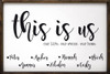 """24"""" x 36"""" Framed Family Sign - This Is Us (Personalized)"""