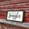 Love & Snuggles | Wood Framed Love Sign | Sawdust City Wood Signs