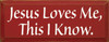 Jesus Loves Me, This I Know. |Simple Christian Wood Sign| Sawdust City Wood Signs