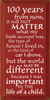 100 years from now, it will not matter what my..  Inspirational Wood Sign  Sawdust City Wood Signs