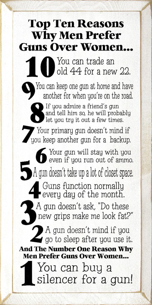 Top Ten Reasons Why Men Prefer Guns Over Women   10 -1954