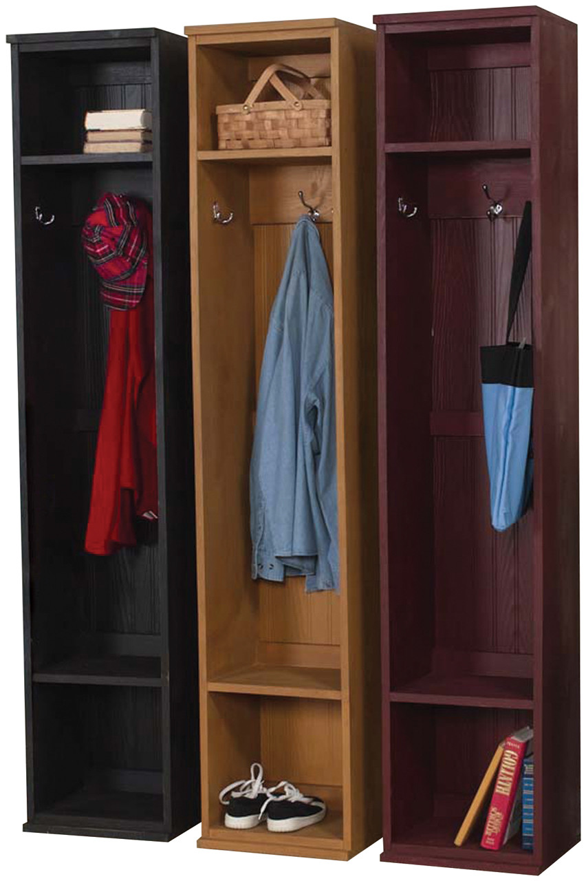 Wood Mudroom Locker For Storage