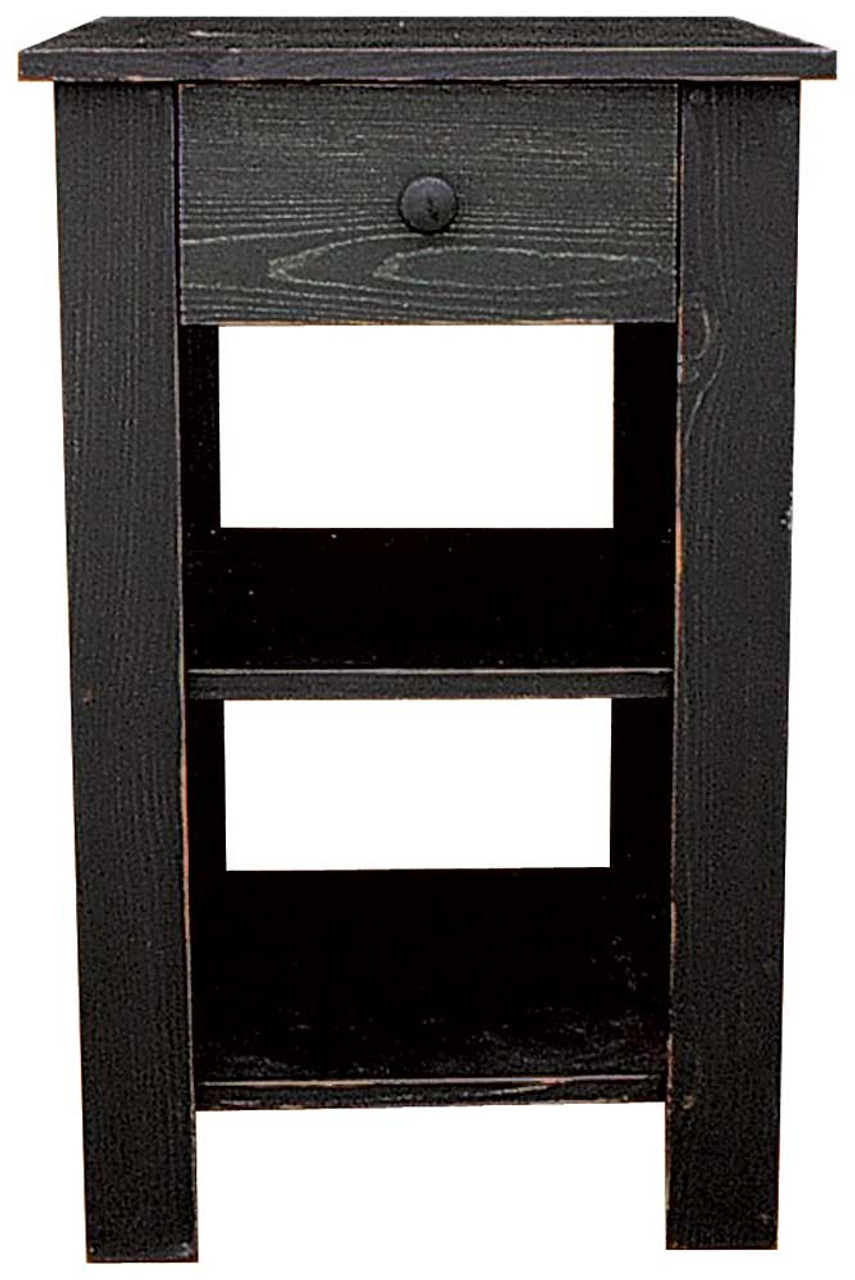 Tall End Table With Drawer