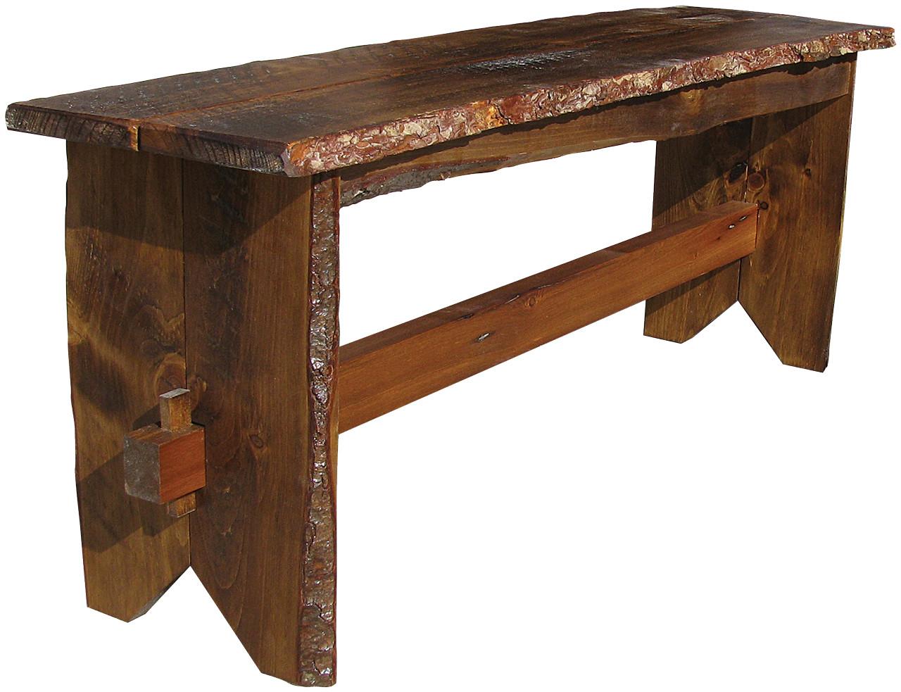 Fantastic Rustic Trestle Bench 4 Long Overstock Inzonedesignstudio Interior Chair Design Inzonedesignstudiocom