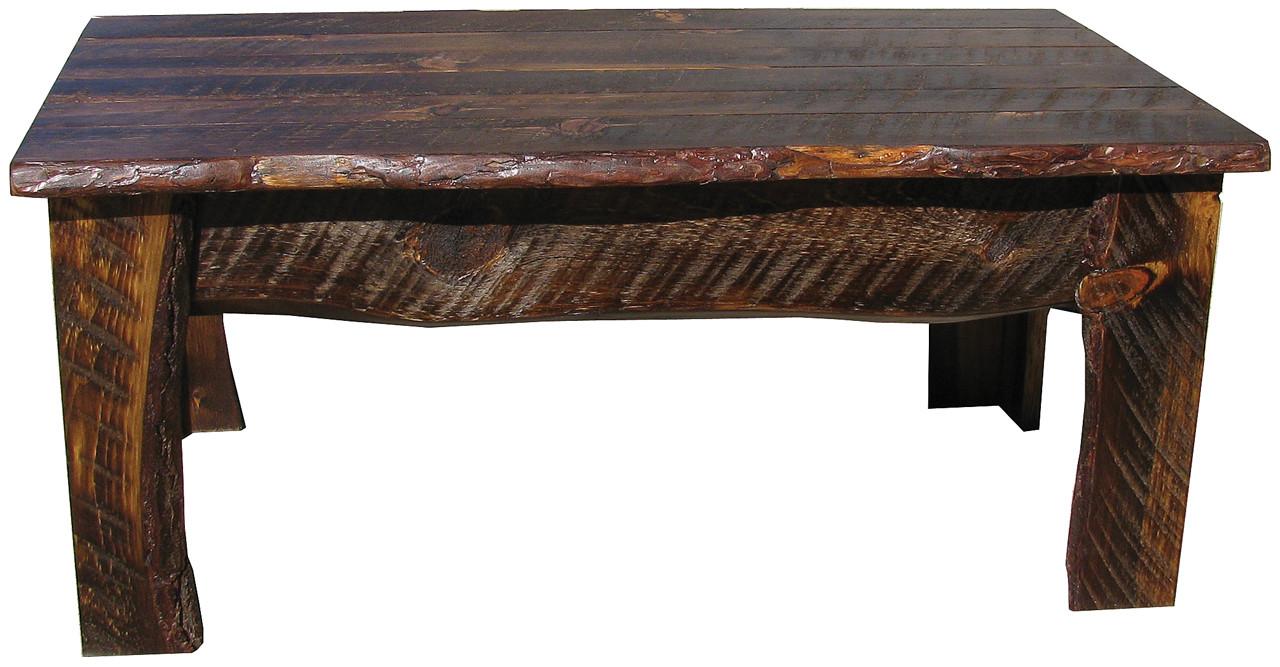 - Rustic Rough-Sawn Coffee Table