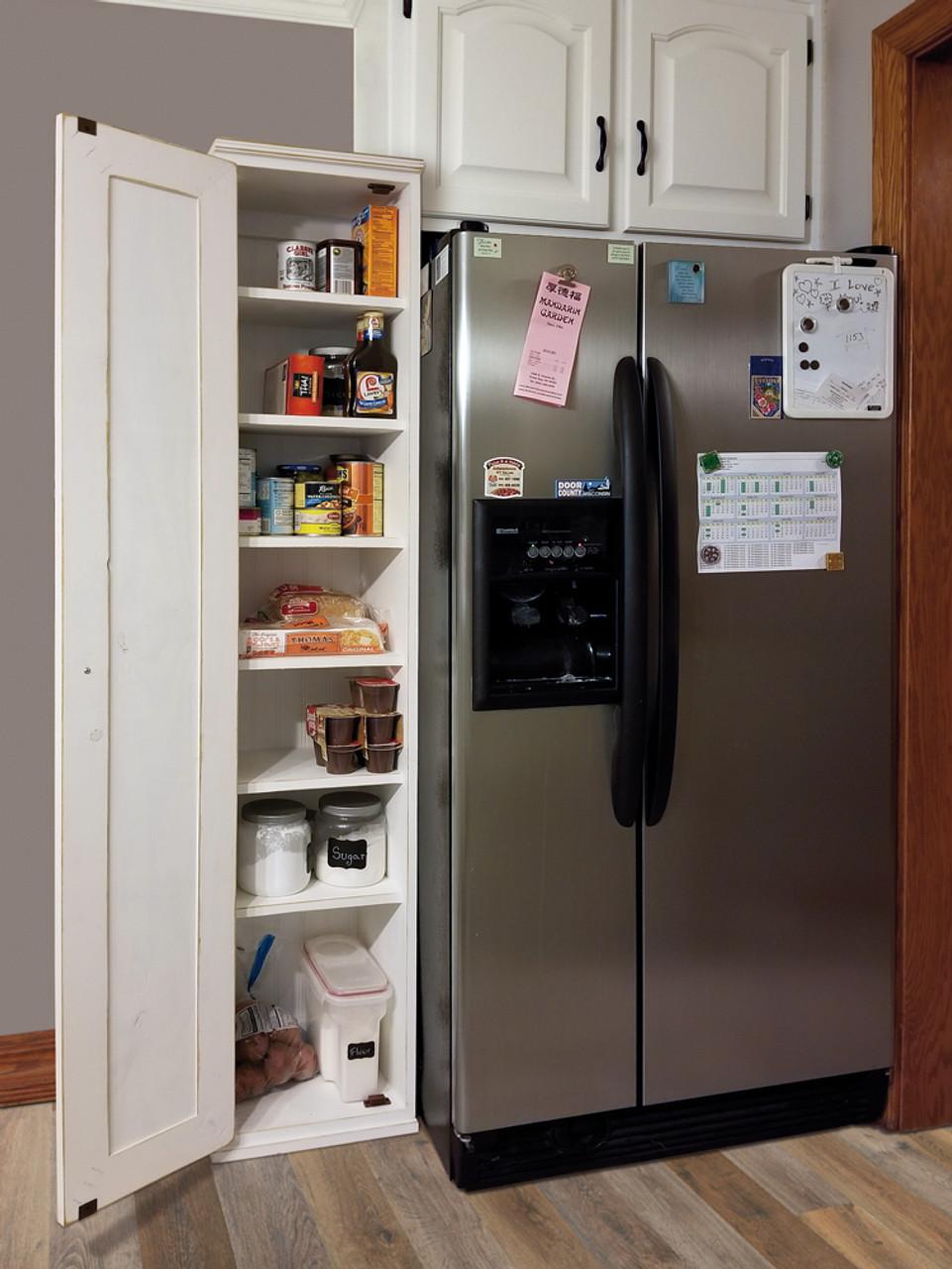 American Pine Skinny Kitchen Pantry