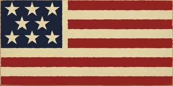 American Flag (image) |USA Wood Sign| Sawdust City Wood Signs