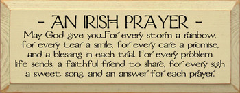 May God give you. . .For every storm a rainbow... |Irish Prayer Wood Sign| Sawdust City Wood Signs