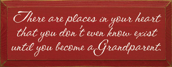 There are places in your heart...|Grandparents Wood Sign| Sawdust City Wood Signs
