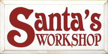 Santa's Workshop |Christmas Wood Sign| Sawdust City Wood Signs