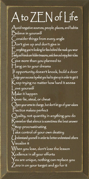 A to ZEN of Life: Avoid negative sources, people… |A To  ZEN Wood Sign With Famous Quotes | Sawdust City Wood Signs